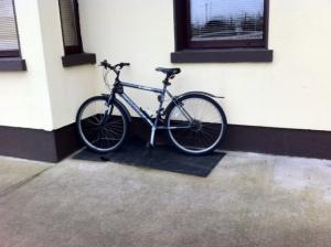 bike on mat